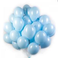 Облако из 50-ти голубых шаров