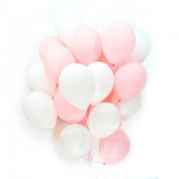 Белые и розовые