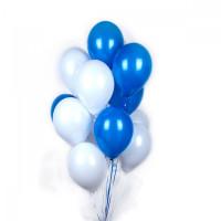 Бело-синие шарики с гелием