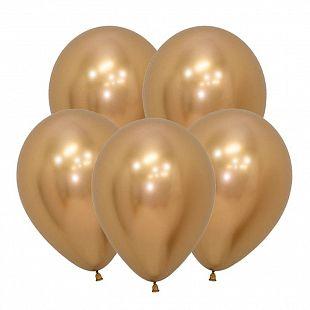 Хром Золото, (Зеркальные шары) / Reflex Gold