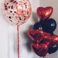 Набор шаров чёрное и красное