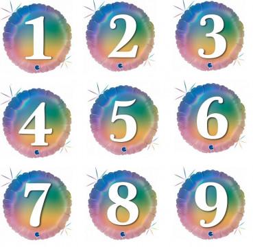 Шары круги градиент  с цифрами