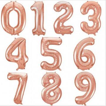Цифры Розовое золото, 102 см