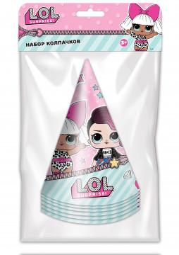 Колпаки, Кукла ЛОЛ (LOL), Розовый, 6 шт