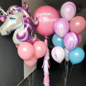 Набор шаров «день рождения милый единорог»