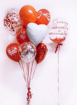 Набор шаров красная любовь