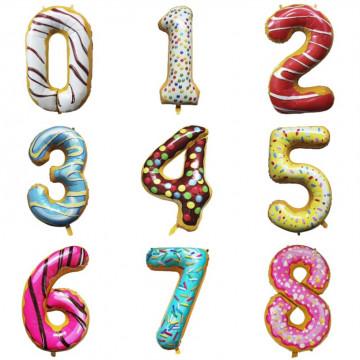 Фольгированные цифры пончики