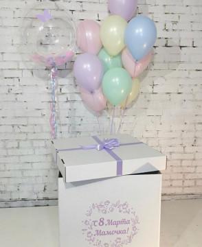 Нежная коробка с шарами