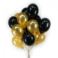 Облако черных и золотых шаров