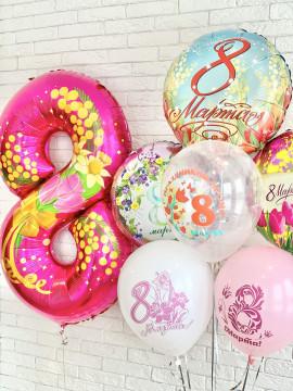 Яркий весенний набор шаров