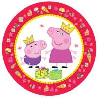 Тарелки (7''/18 см) Свинка Пеппа (Принцесса), 6 шт