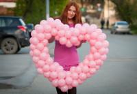 Сердце из шаров 1 шт.