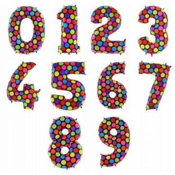 Шар (40''/102 см) Цифра, Супер Яркий, 1 шт.