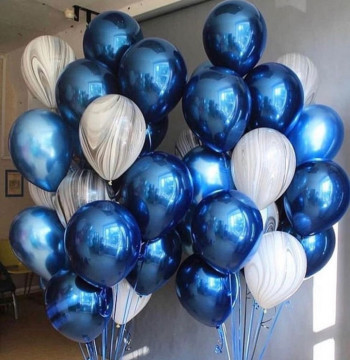 Набор шаров «сине—серый»