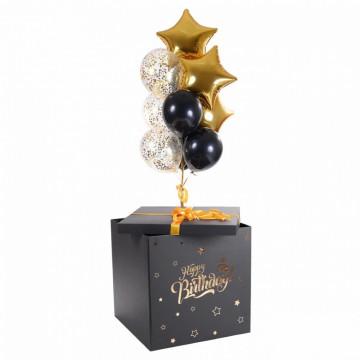 Чёрная коробка—сюрприз с днём рождения