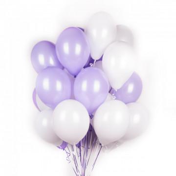 Бело-сиреневые шары