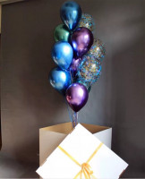 Коробка—сюрприз с шариками хром!