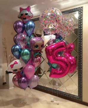 Набор шаров «день рождения с лол»