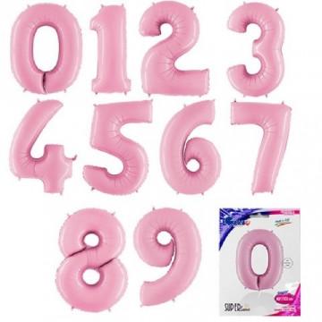 Нежно розовые цифры