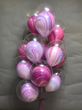 букет из шаров розовая нежность