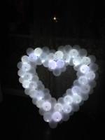 Светящиеся сердце декоротивное