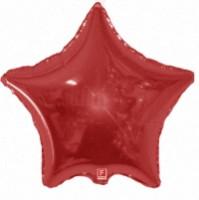 Шар (18''46 см)   Звезда, Красный, 1 шт.