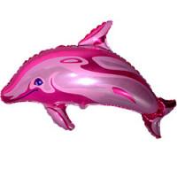Шар (24'' 61 см) Фигура, Дельфин фигурный, Фуше, 1 шт.