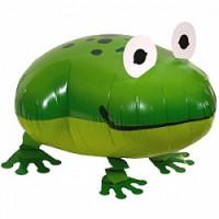 Шар (24'' 61 см) Ходячая Фигура, Лягушка, Зеленый, 1 шт.