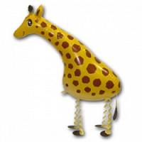 Шар (28'' 71 см) Ходячая Фигура, Жираф, Желтый, 1 шт.