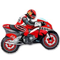 Шар (29''74 см) Фигура, Мотоцикл, Красный, 1 шт.
