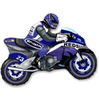 Шар (29''74 см) Фигура, Мотоцикл, Синий, 1 шт.