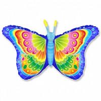 Шар (32'' 81 см) Фигура, Бабочка кокетка, Синий, 1 шт.