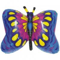 Шар (32'' 81 см) Фигура, Бабочка, Синий, 1 шт.