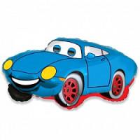 Шар (32'' 81 см) Фигура, Гоночная машина, Синий, 1 шт.