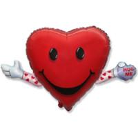 Шар (32'' 81 см) Фигура, Любовь и объятия, Красный, 1 шт.