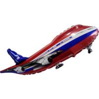 Шар (32'' 81 см) Фигура, Самолет, Красный, 1 шт.