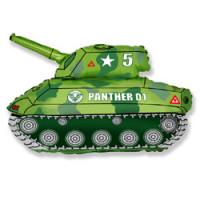 Шар (32'' 81 см) Фигура, Танк, Зеленый, 1 шт.