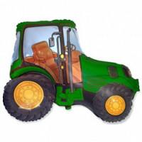 Шар (32'' 81 см) Фигура, Трактор, Зеленый, 1 шт.