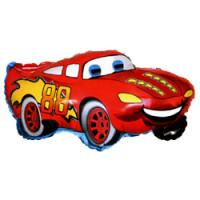 Шар (32''81 см) Фигура, Гоночная машина, Красный, 1 шт.