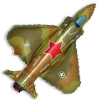 Шар (32''81 см) Фигура, Истребитель, Военный, 1 шт.