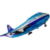 Шар (32''81 см) Фигура, Самолет, Синий, 1 шт.