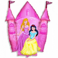 Шар (33'' 84 см) Фигура, Замок принцессы, Розовый, 1 шт.