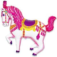 Шар (36'' 91 см) Фигура, Лошадь карусельная, Фуше, 1 шт.