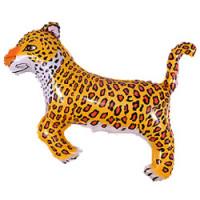 Шар (36''91 см) Фигура, Леопард, Черный, 1 шт.