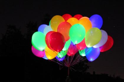 """Шары разноцветные с подсветкой """"Адлер"""""""