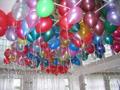 """Шарики (12"""" 30см) под потолок, с обработкой Ultra Hi-float, без рисунка"""