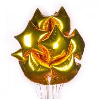 Фольгированные золотые звезда высота 45 см